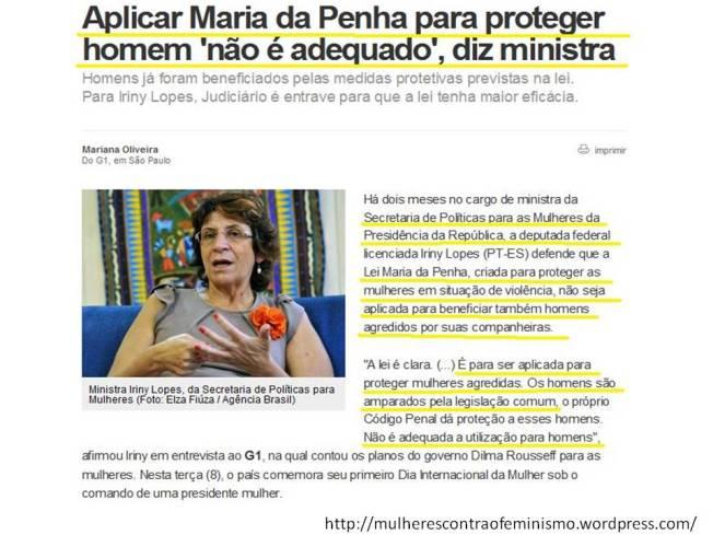 Maria da Penha feminista igualdade