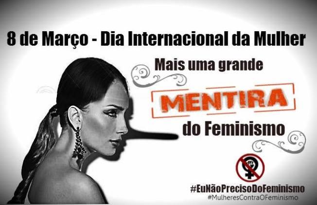 dia internacional das mulheres é uma mentira feminista